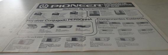 Pioneer Equipamentos De Som Vintage 1980 Catalago