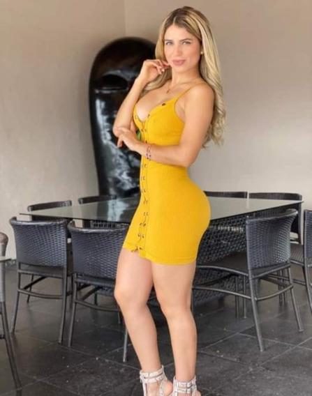 Vestido Corto Con Cierre Lycra Santoni