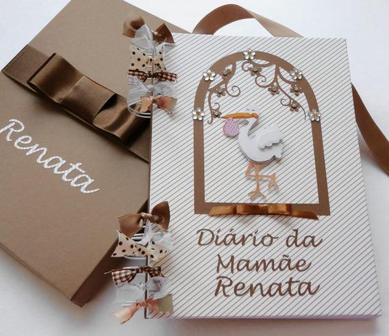 Diário Gestante Gestação Gravidez Mamãe Scrapbook Bebê Fotos