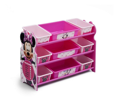 Delta Minnie Mouse Organizador Infantil Juguetes Niñas
