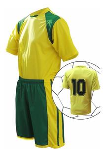 Jogo De Camisa Calção, Fardamento Uniforme Futebol Kit 11pcs