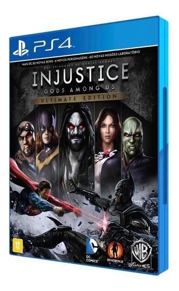 Injustice Ultimate Edition - Ps4 - Mídia Física - Novo
