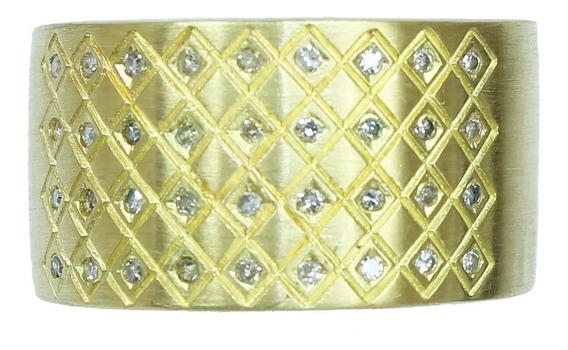 Pocao2005- Anel Ouro 18k Vivara Diamantes 12x S/j Ft/gt 2389