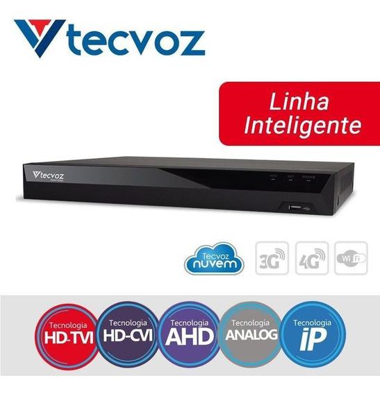 Dvr/nvr Top Tecvoz Tv-p5004 - 4 Canais+ip (até 6 Câmeras)
