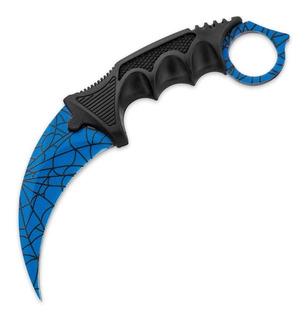 Karambit Black Legion Blue Spider Para Cuello