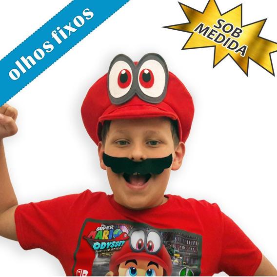 Olho Fixo Chapéu / Boina Super Mario / Cappy Nintendo Switch