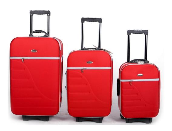 Kit Conjunto 3 Malas De Viagem Com 8 Rodinhas Promoção