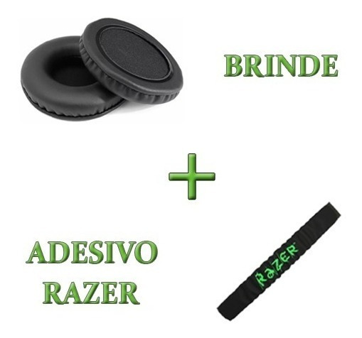 Kit Almofadas Arco Cabeça + Espumas Headset Razer Kraken