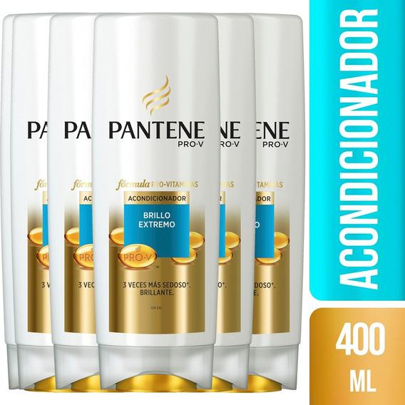 Pack De 6 Acondicionador Pantene Pro-v Brillo Extremo 400 Ml