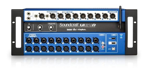 Mesa De Som Wi-fi Soundcraft Ui24r Usb 24 Canais Ui 24 R