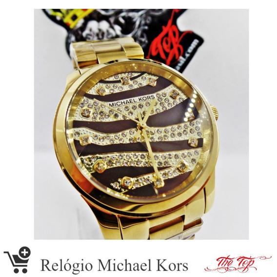Relógio Feminino Dourado Michael Kors Original