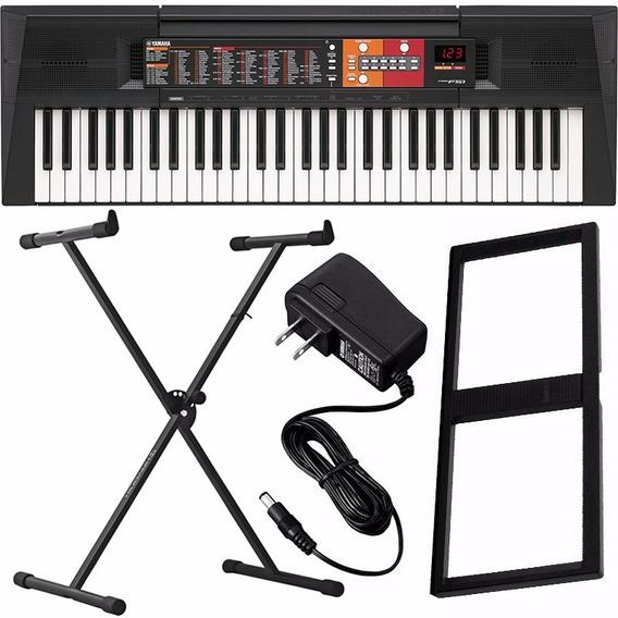 Teclado Musical Yamaha Psr F51 61 Teclas + Fonte E Suporte