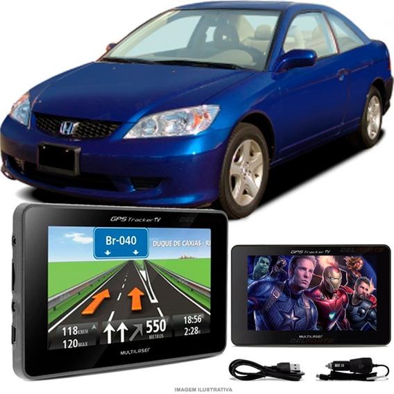 Navegador Gps Automotivo Civic Antigo Tela 4.3 Touch Voz