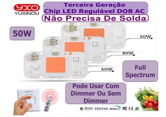 Chip Led 50w Magenta Full Spectrum 220v Aquário Planta Smar