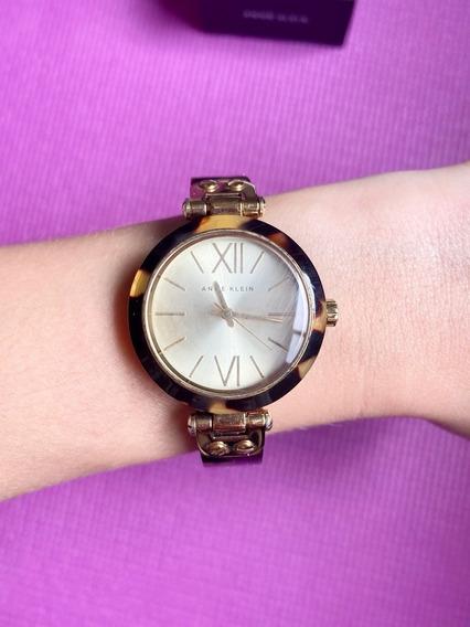 Relógio Anne Klein Feminino Dourado E Marrom