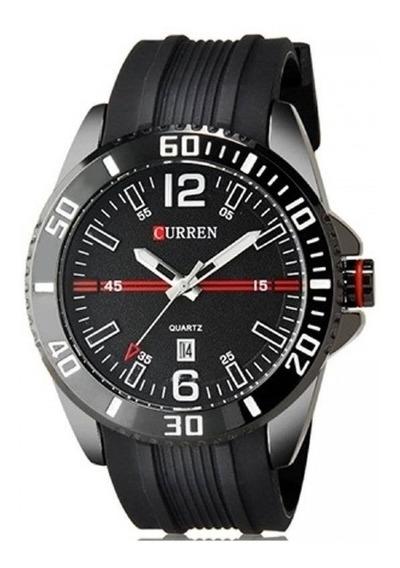 Relógio Masculino Curren Analógico Casual 8178 Preto + Nfe