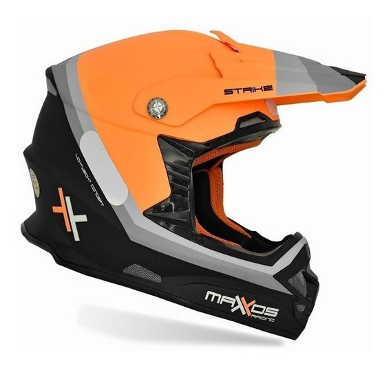 Capacete Mattos Racing Mx Pro Strike Laranja