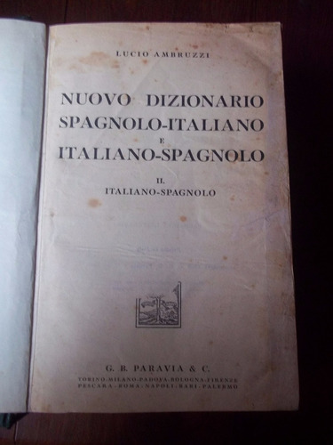 Lucio Ambruzzi Dizionario Italiano Spagnolo Fraganplat