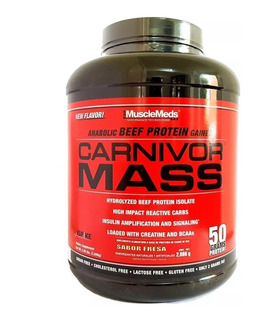 Proteina Musclemeds Carnivor Mass 6 Lbs Sabor Fresa