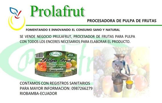 Venta De Procesadora De Pulpa De Fruta