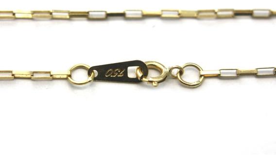 Oferta Corrente Colar Elo Americano Ouro Amarelo 18k D822