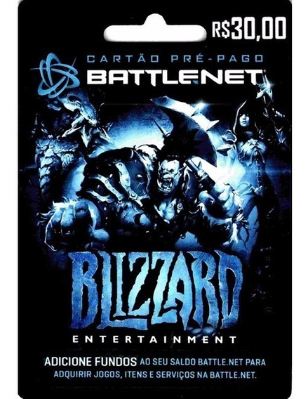 Cartão Battle.net Wow, Hearthstone, Diablo, Overwatch R$ 30