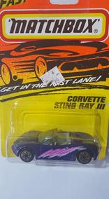 Corvette Sting Ray Iii 1994 Super Fast Purple Matchbox