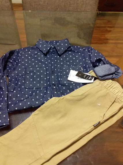 Conjunto 2 Piezas Dkny Pantalon/camisa Original Importado