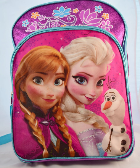Mochila Nueva Frozen Con Luces Original Disney A Estrenar