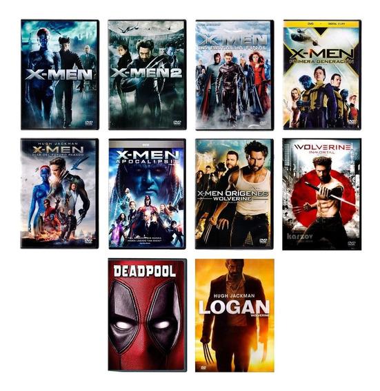 X-men Wolverine Logan Deadpool Marvel 10 Peliculas Dvd