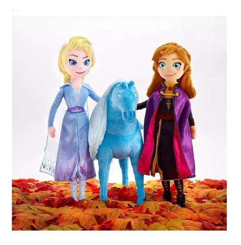 Disney Frozen 3 Peluches Elsa, Anna, Nokk 45 Cms Originales
