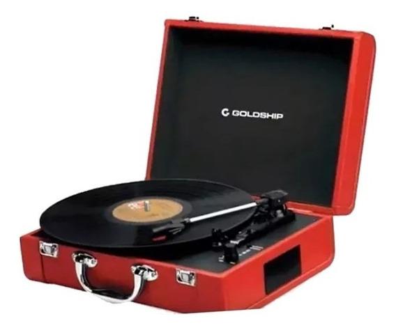 Vitrola Toca Discos Retro Nostalgic Portátil Vermelha