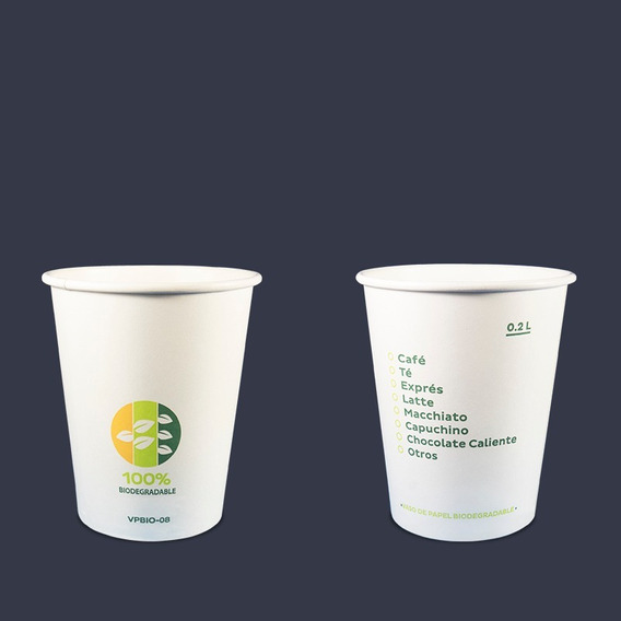 Vaso Biodegradable 8 Oz 1 Bolsa Con 50 Pzas