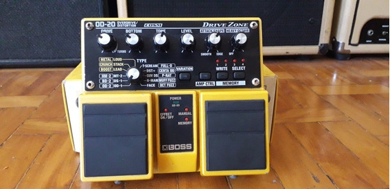 Pedal Boss Overdrive Distortion Od20 Od 20 Na Caixa