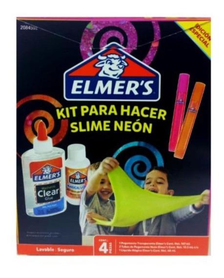 Kit Para Hacer Masa Slime Neon / Aqua Elmer´s