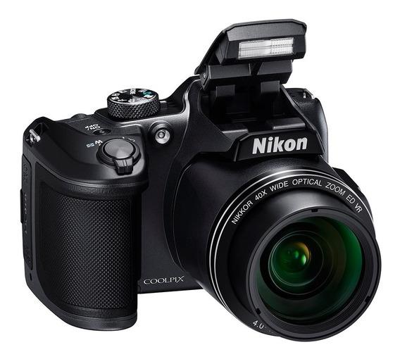 Câmera Nikon B500 + 64gb+bolsa+tripe+carregador C/4 Pilhas.