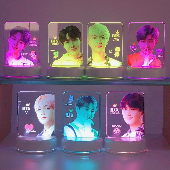 Abajur Luminária Led | Banda Bts Coreana Kpop |jimin V