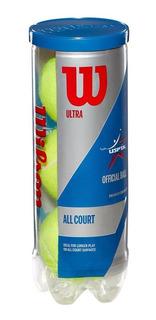 Tubo 3 Pelotas Tenis Wilson Ultra All Court Uspta Official