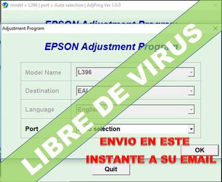 Reset Epson L396- Corrige Error Almohadillas Al 100%