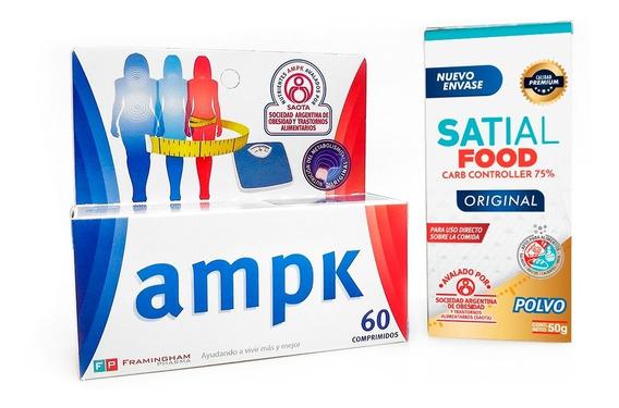Combo P/ Adelgazar Ampk 60 Comp + Satial Food - Super Oferta