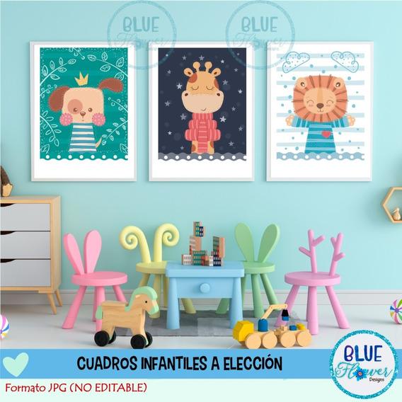 Laminas Cuadros Infantiles X3 Imprimibles A Elección Jpg E13