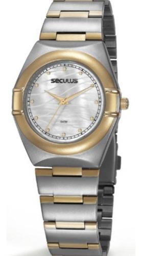 Relógio Seculus Misto Calendário 20776lpsvbs2