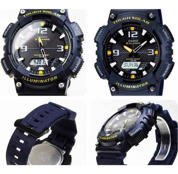 Relógio Casio Tough Solar Aq-s810w-2avdf Azul-escuro
