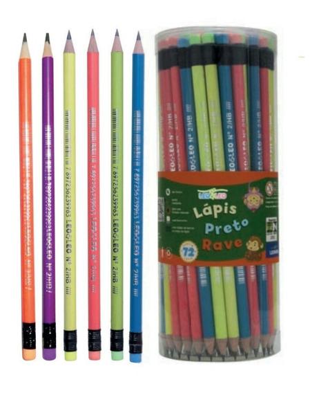 Pote C/ 72 Lápis De Escrever Com Borracha(escrita E Desenho)