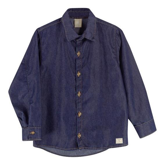 Camisa Infantil Masculina Colorittá Jeans
