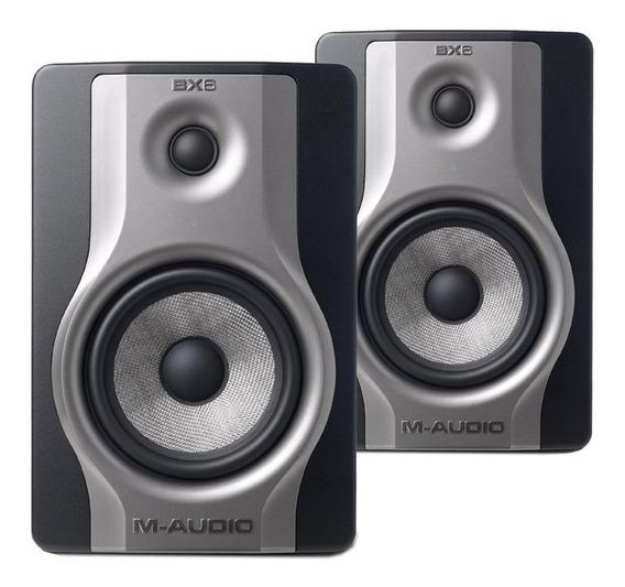 Par Monitor De Referência Ativo M-audio Bx6 Carbon