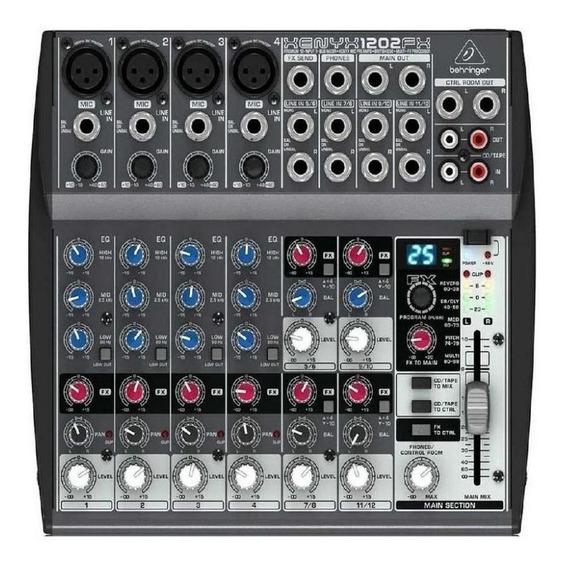 Mesa De Som Behringer Xenyx 1202fx C/ Efeito Mixer 12 Canais