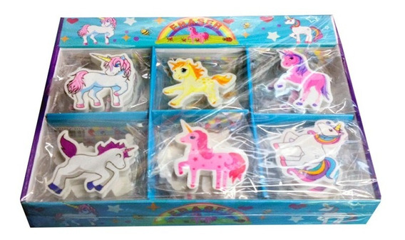 Gomitas Unicornios Kawaii Caja X30 Gomas Borrar P/ Souvenir
