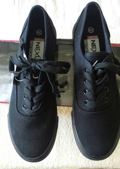 Zapatos Nexus Pro Classic Skate Board Original Negros T-38