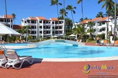 Apartamento En Bavaro, 2h, 2b Piscina Y Playa!